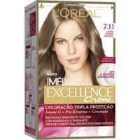 Coloração Imédia Excellence Creme N°7.11 Louro Cendre Natural Imedia 1 Unidade