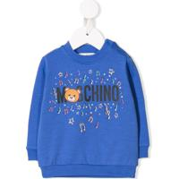 Moschino Kids Suéter Com Estampa De Urso - Azul
