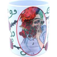 Caneca Bad Rose Personagem Autoral - Br1661- Rainbow Rose