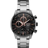 Relógio Seiko Masculino Ssb331B1 P1Sx Cronógrafo Pulseira E Caixa Aço Prateado Mostrador Preto