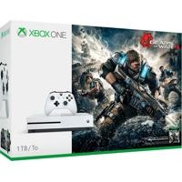 Console Xbox One S 1Tb Branco Bundle Jogo Gear Of War Ultimate