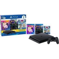 Playstation 4 Bundle V11 1Tb 1 Controle Sony Com 5 Jogos Ps Plus 3 Meses - Unissex
