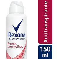 Desodorantes Antitranspirante Rexona Motionsense Aerosol Frutas Vermelhas 150Ml - Feminino-Incolor