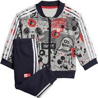 Agasalho Bebê Adidas Mickey Mouse Jogger 2 Masculino - Masculino-Cinza+Laranja