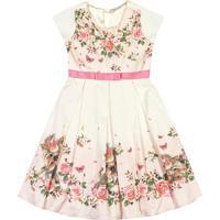 Vestido Floral- Off White & Rosa Claro- Marisolmarisol