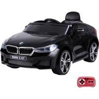 Carrinho Infantil Elétrico Bmw 6 Gt Gran Turismo, 12V Com Controle Remoto Belfix Bel Brink - Unissex-Preto