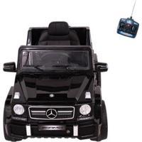 Carro Infantil Eletrico Mercedes-Benz Off-Road Amg V8 12V Com Controle Remoto - Unissex-Preto