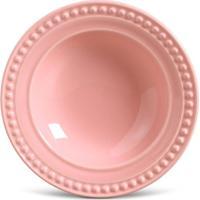 Prato Fundo Atenas Cerâmica 6 Peças Rosa Porto Brasil