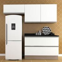 Cozinha Compacta Veneza 5 Pt Carvalle Com Branco