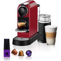 Máquina De Café Nespresso Citiz C113 Vermelho Cereja Com Aeroccino 3