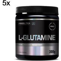 Kit 5X L-Glutamine Probiótica - 300G - Masculino