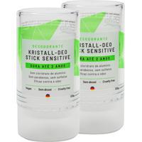 Desodorante Alva Stick Kristall Sensitivo Vegano 120G Kit Com 2