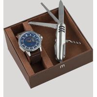 f55fb6e644d CEA  Kit De Relógio Analógico Mondaine Masculino + Canivete - 99333G0Mvnj1K  Prateado - Único