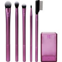 Kit Real Techniques 5 Pincéis + Brush Cup - Feminino-Roxo+Preto
