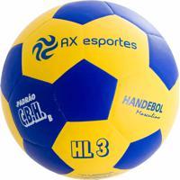 Bola De Handebol Masculino Ax Esportes Hl3 Matrizada Amarelo