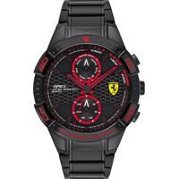 Relógio Scuderia Ferrari Masculino Aço Preto - 830635