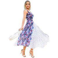 Vestido Godê Atelier Lily Daisy Ld144F Rosa Floral
