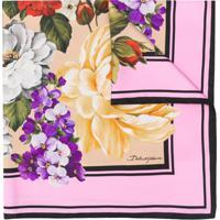 Dolce & Gabbana Lenço De Bolso Com Estampa Floral - Rosa
