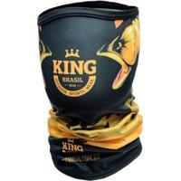 Bandana Ou Buff King Brasil Com Proteção Uv - Dourado - Unissex