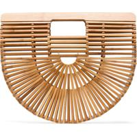 Cult Gaia Clutch 'Ark' Pequena De Bambu - Neutro