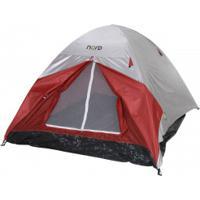 Barraca De Camping Iglu Nord Outdoor Summit - 4 Pessoas - Vermelho/Cinza