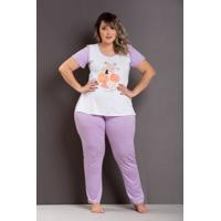 Pijama Florescer Roxo Plus Size