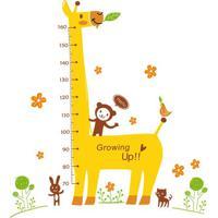 Adesivo De Parede Growing Up- Amarelo & Marrom Claroevolux