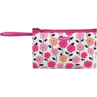 Nécessaire Com Alça- Pink & Branca- 15X26X3Cm- Jjacki Design