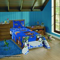 Jogo De Cama Toy Story® - Solteiro- Azul & Vermelho-Lepper