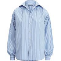 Camisa Polo Ralph Lauren Reta Listrada Azul