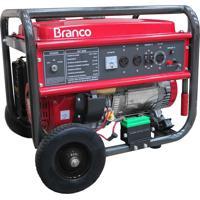 Gerador De Energia Branco B4T8000E3 A Gasolina 8.5Kva Partida Elétrica
