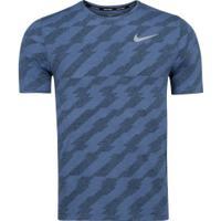 Camiseta Nike Dry Miller Ss - Masculina - Azul Esc/Azul