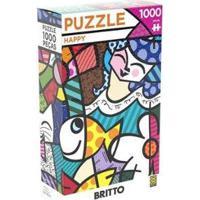 Quebra-Cabeça 1000 Peças Paisagem - Puzzles Adultos Happy Romero Britto - Unissex-Colorido