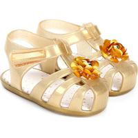 Sandália Infantil Pimpolho Glitter Feminina - Feminino-Dourado