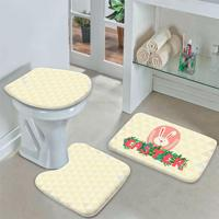Jogo Tapetes Para Banheiro Páscoa Triângulos
