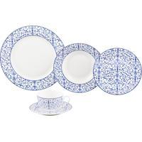 Aparelho De Jantar De Porcelana Super White Abstract Wolff – 20 Peças