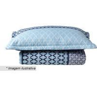 Conjunto De Colcha Boutis Attuale King Size- Azul Claro Corttex