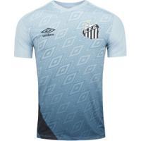 Camisa De Treino Do Santos 2020 Umbro - Masculina - Azul/Preto