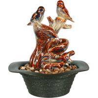 Fonte Decorativa Pássaros Em Porcelana