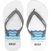 Chinelo Reef Sunsetter Cinza/Branco