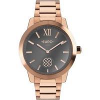 Relógio Euro Move Charm Feminino - Feminino-Bronze