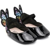 Sophia Webster Mini Sapato Butterfly - Preto