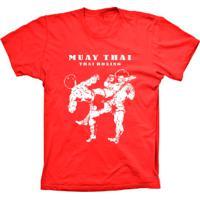Camiseta Lu Geek Manga Curta Muay Thai Vermelho
