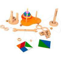 Jogo Educativo Kit Qi Carlu Mdf Com 6 Jogos