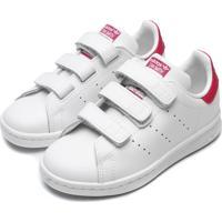 Tênis Couro Adidas Originals Menina Stan Smith Cf C Branco