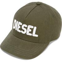 Diesel Kids Boné Com Logo Bordado - Verde