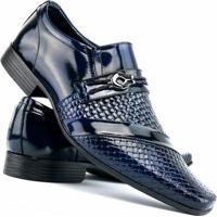 55c845c435 ... Sapato Social Envernizado Venetto - Masculino-Azul