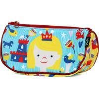 Estojo Necessaire Ó Design Sorriso Infantil - Princesa - Od-Nsp - Azul