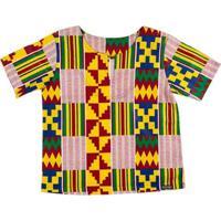 Blusa Bata Infantil Hype Kids Africana Uganda Masculina - Masculino-Vermelho
