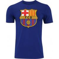 Camiseta Barcelona Evergreen Crew Nike - Masculina - Azul Escuro